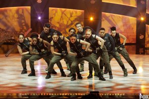 Team Street performs a group routine choreographed by NappyTabs.