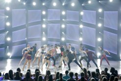 The Top 20 perform a group routine choreographed by Chris Scott.